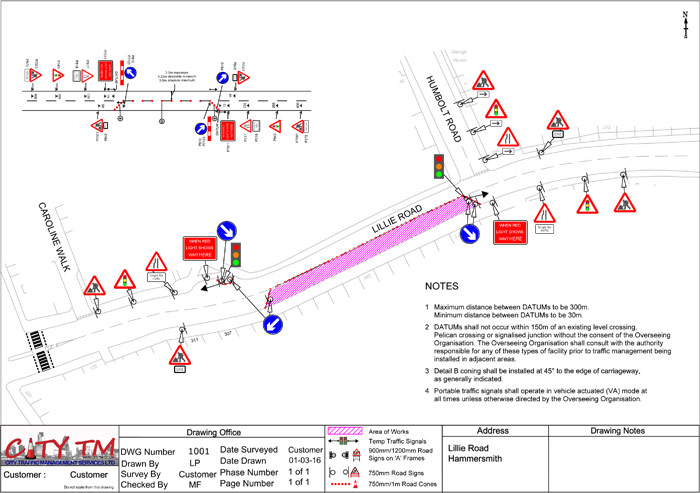 Technical Drawings Design City Tm Traffic Management Services